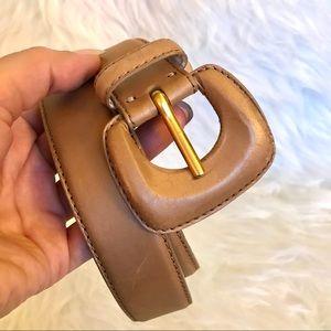 Donna Karan New York Shiny Smooth Leather Belt